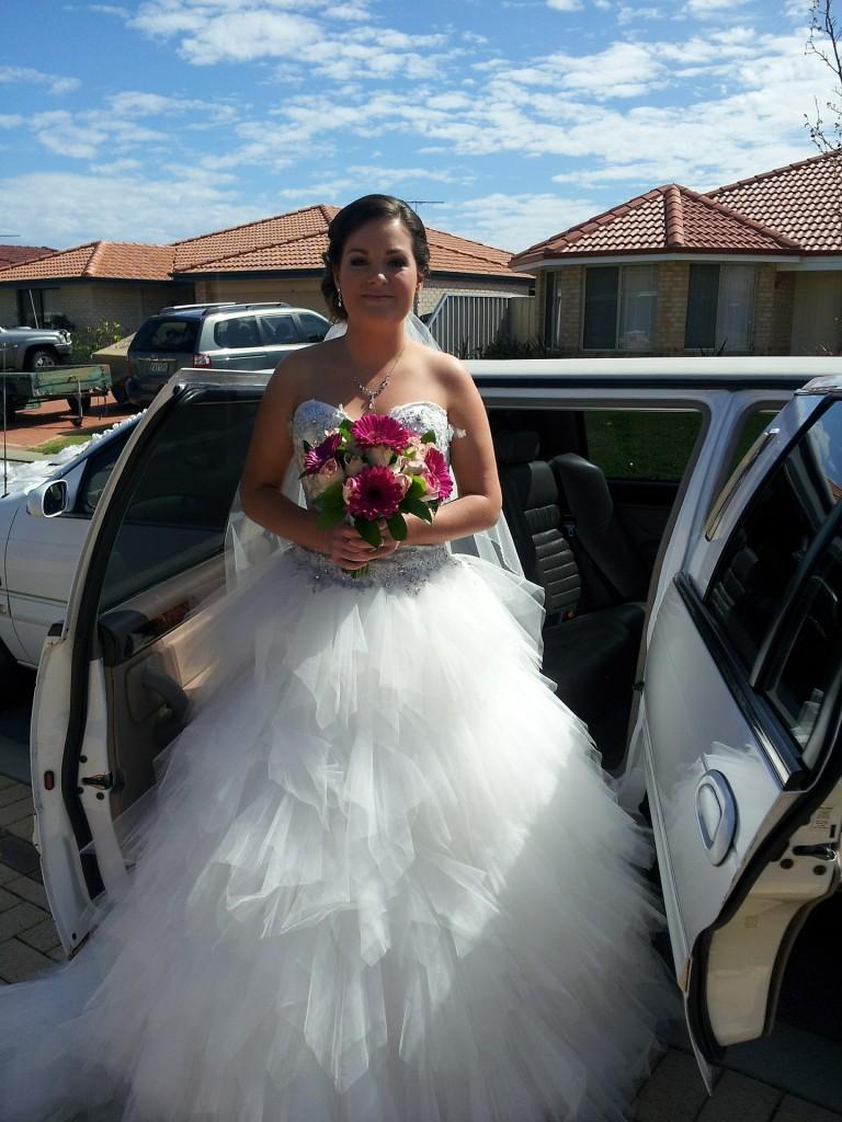 llegada de la novia.